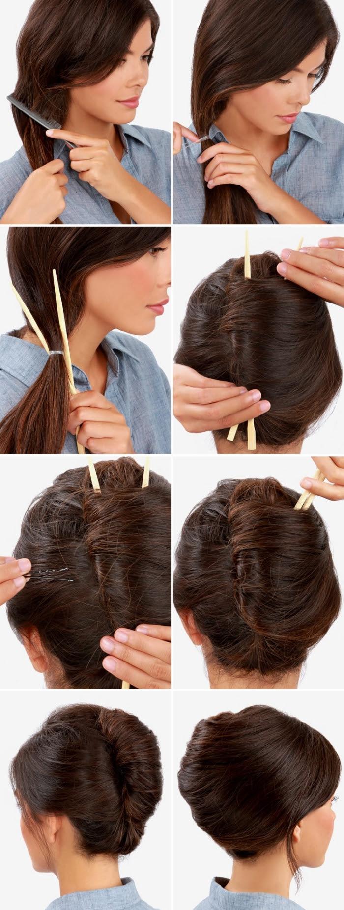 Coiffure Cheveux Mi Long Attaché Attache Cheveux Mariage