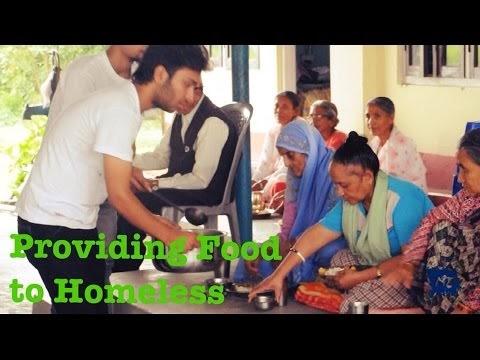 Providing food to homeless elder citizens