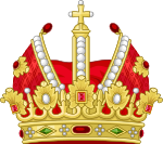 Heraldic Imperial Crown (Gules Mitre).svg