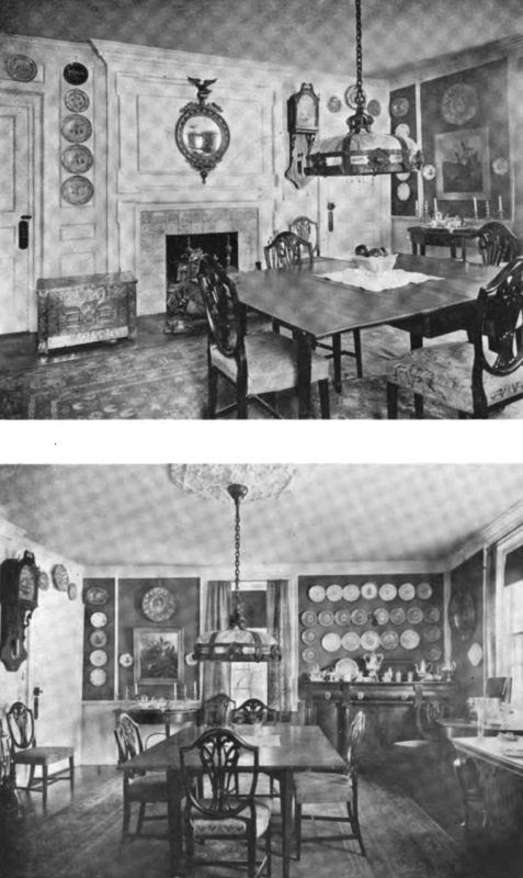 Plate LXVIII.—Two Views of the Dining Room, Saltonstall House.