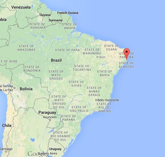 Where is Porto Galinhas map of Brazil