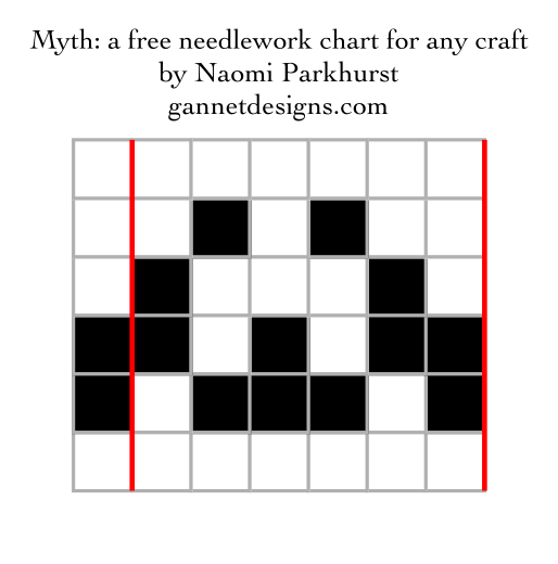 Myth: a free needlework chart for any craft