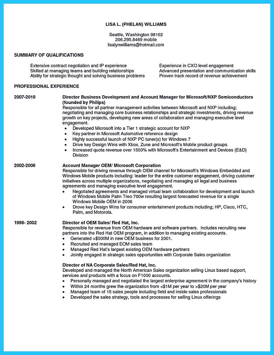 Business Development Manager Resume Examples Best Resume Examples