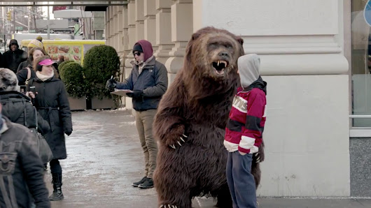 Bear From Chobani's Super Bowl Ad Is Now Ambushing People in NYC