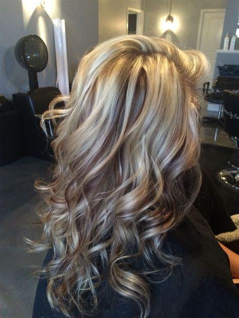 beautiful white blonde highlights  chocolate brown