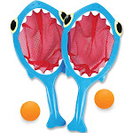 Melissa & Doug Sunny Patch Spark Shark Toss and Catch Net Pool Game With 2 Balls