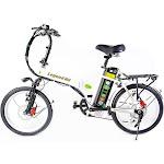 Green Bike Electric Motion Legend HD Motorized Foldable Bike, White