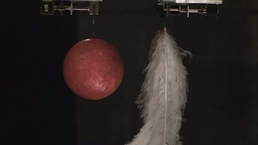 The Hammer-Feather Drop in the world's biggest vacuum chamber | The Kid Should See This