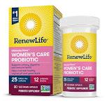 Renew Life Ultimate Flora Women's Care Probiotic | 25 Billion CFU | 30 Veg Caps