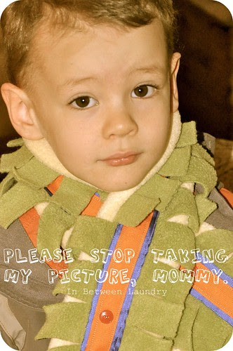 homemade fleece scarf for kids
