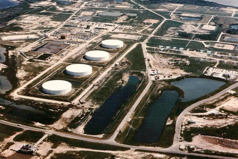The Strategic Petroleum Reserve (SPR) Bryan Mound storage facility located in Brazoria County, Texas, is one of four sites that make up the country's oil reserve.