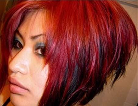rot schwarze haare