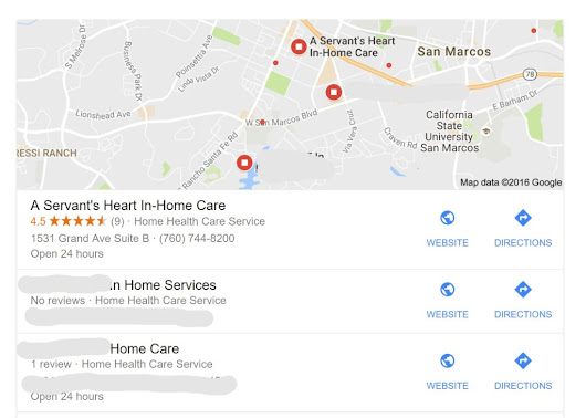 "Local SEO for Home Care: ""Near Me"" Searches - A Servant's Heart Web Design and Marketing"
