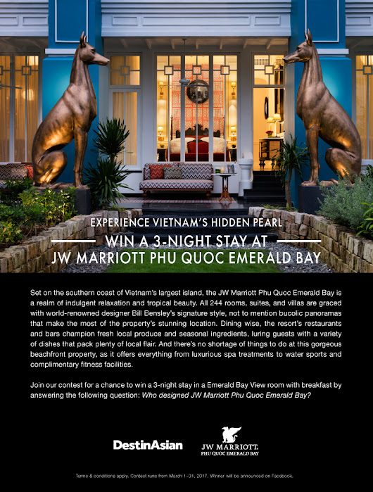 Win a 3-Night Stay at JW Marriott Phu Quoc Emerald Bay