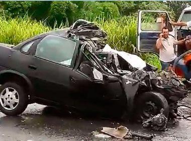 Colisão entre carro, táxi e ônibus em Itabuna deixa um motorista morto e 14 pessoas feridas