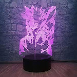 Uzumaki Naruto&Kyuubi 3D Visual Night Light LED Optical Illusion Desk Table Lamp 7 Colors Change USB Cable Touch Button with Remote Control Creative