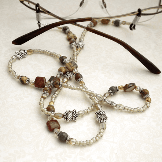 Woodland Owl Eyeglass Chain