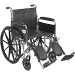 Chrome Sport Wheelchair Detachable Full Arms