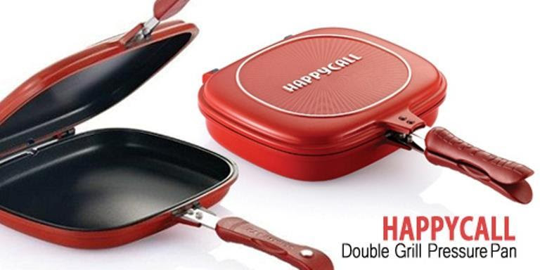 Happy Call ! Non Stick Double Sided Fry / Grill Pan 32cm JUMBO SIZE !!