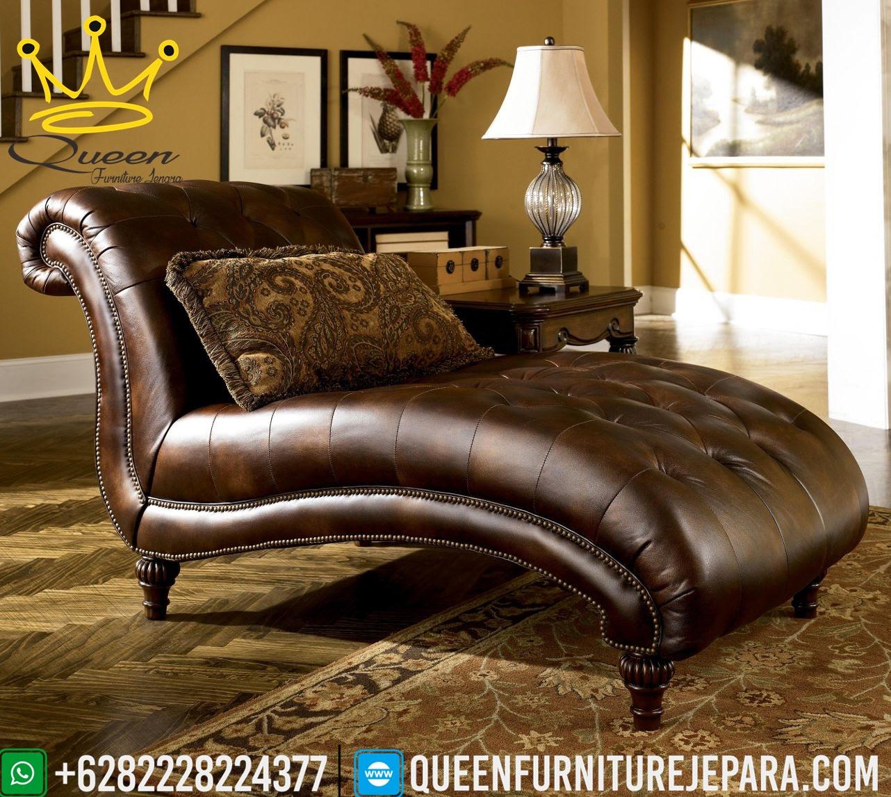 Kursi Sofa Kulit Aslimodel Kursi Tamu Mewah Klasik Queen