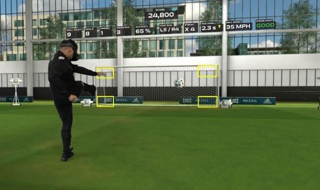 Профессиональный тренажер Rezzil позволит оттачивать футбольные навыки в виртуальности