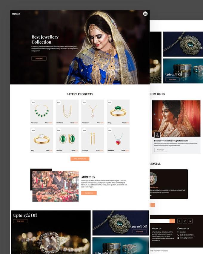 Healet – Free Jewellery Website Template
