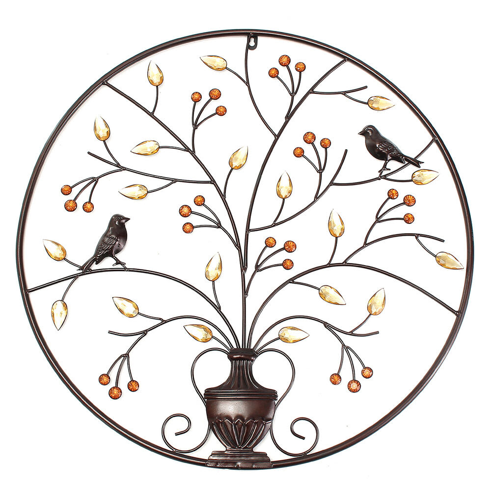 Magpie on the Black Tree Wall Art Hanging Metal Iron ...