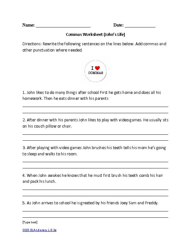 16 Best Of 8th Grade Language Arts Worksheets