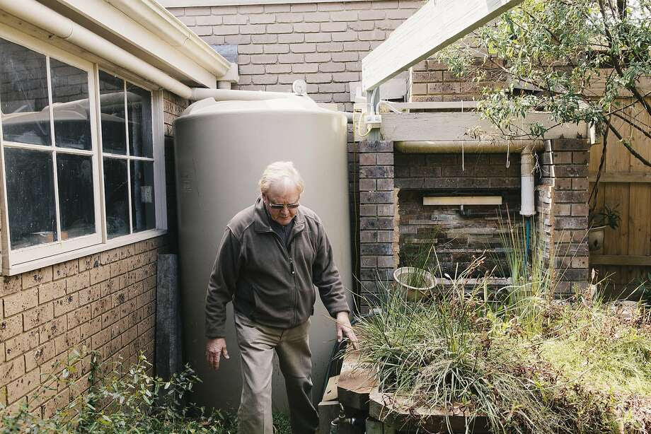 John Harvey, retired Melbourne homeowner who has an impressive array of recycled and grey water installed in his home. Shot in Glen Waverly, Victoria, Australia on September 2, 2015. Photo: Eriver Hijano, Special To The Chronicle