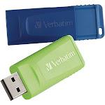 VERBATIM AMERICAS LLC 98713 16GB STORE N GO USB FLASH DRIVE-2PK-BLUE GREEN