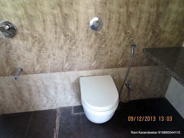 "Master Toilet - Visit 1 BHK Designer Duplex - ""Thumbnail"" at Prithvi Presidio in Kumar Planet IT Campus, besides Quadra & TCS, opp Magarpatta City, Hadapsar, Pune 411028"