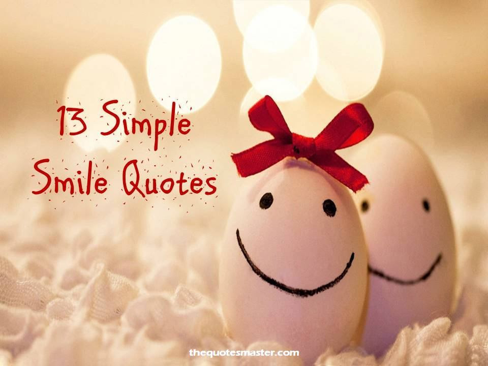13 Simple Smile Quotes