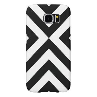 Black and White Chevrons Samsung Galaxy S6 Cases
