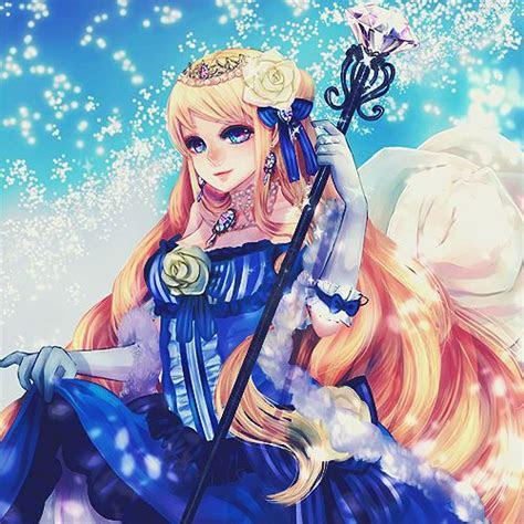 amazing anime art beautiful beauty blonde blue dress