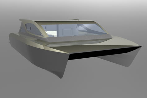 Diesel Electric Hybrid Power and Sailing Catamarans - Power & Sailing