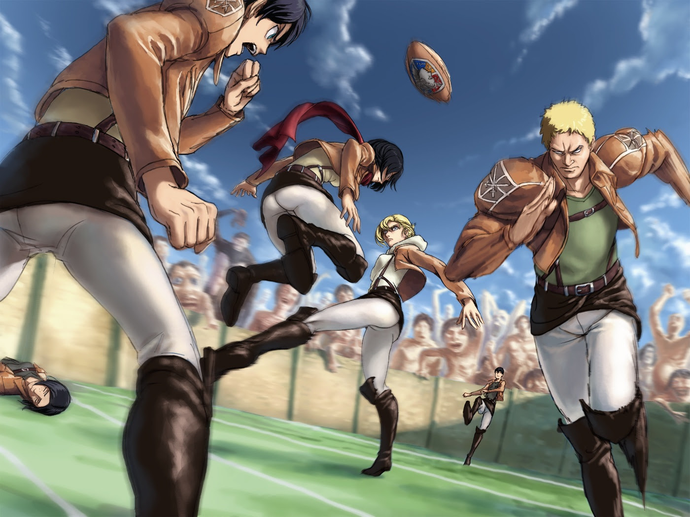 Football Shingeki No Kyojin Attack On Titan Wallpaper 35593428 Fanpop