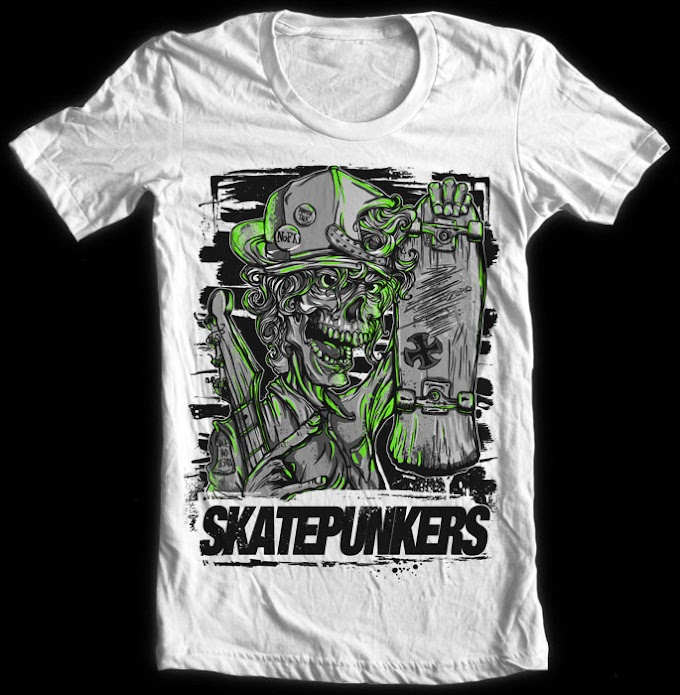 <center>Skatepunkers Tshirts, all models, all sizes, back in stock</center>