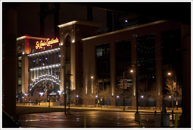 Busch Stadium At Night 1
