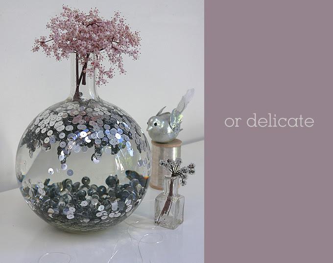 delicate disco vase