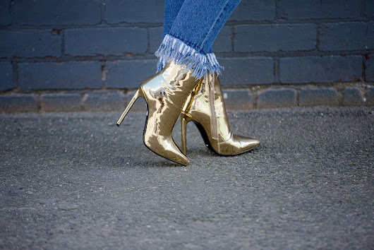 DOUBLE DENIM & GOLD BOOTS - Style & Life by Susana