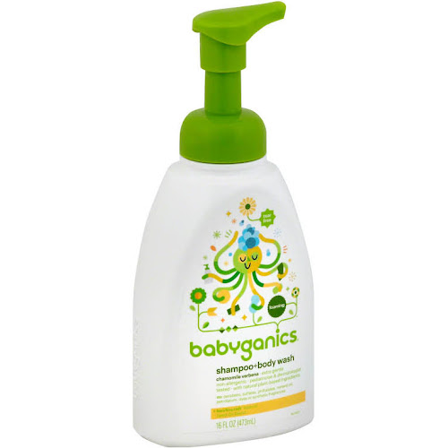 Babyganics Baby Shampoo & Body Wash, Chamomile Verbena - 16 fl oz bottle