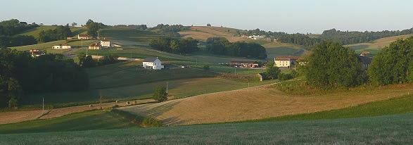 Paysage du Béarn à partir de Lou Castet