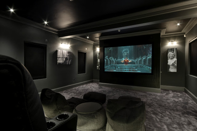 Hadley Wood Cinema - contemporary - media room - other metro - by