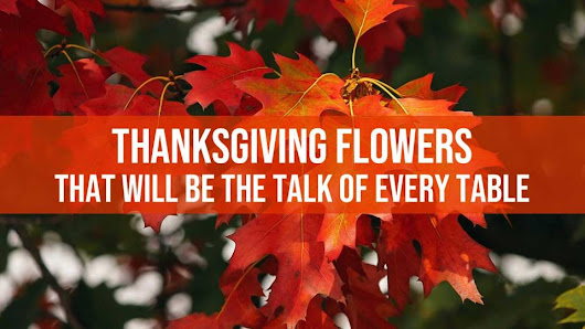 Thanksgiving Flowers - Celebrate the Spirit of the Season