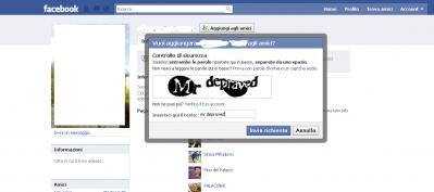 mr depraved, facebook, captcha facebook, ridere,
