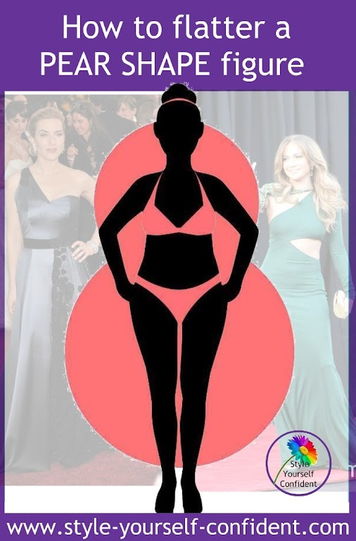 A pear shaped body has curvaceous hips and a rounded bustline. You have more slender shoulders but there...