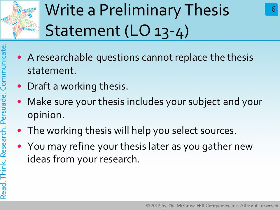 write a thesis statement for me