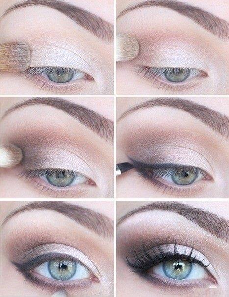 Pink eyeshadow tutorial for blue eyes