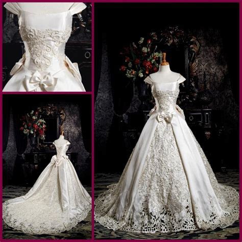 Discount Gorgeous Vintage Wedding Dress Off The Shoulder