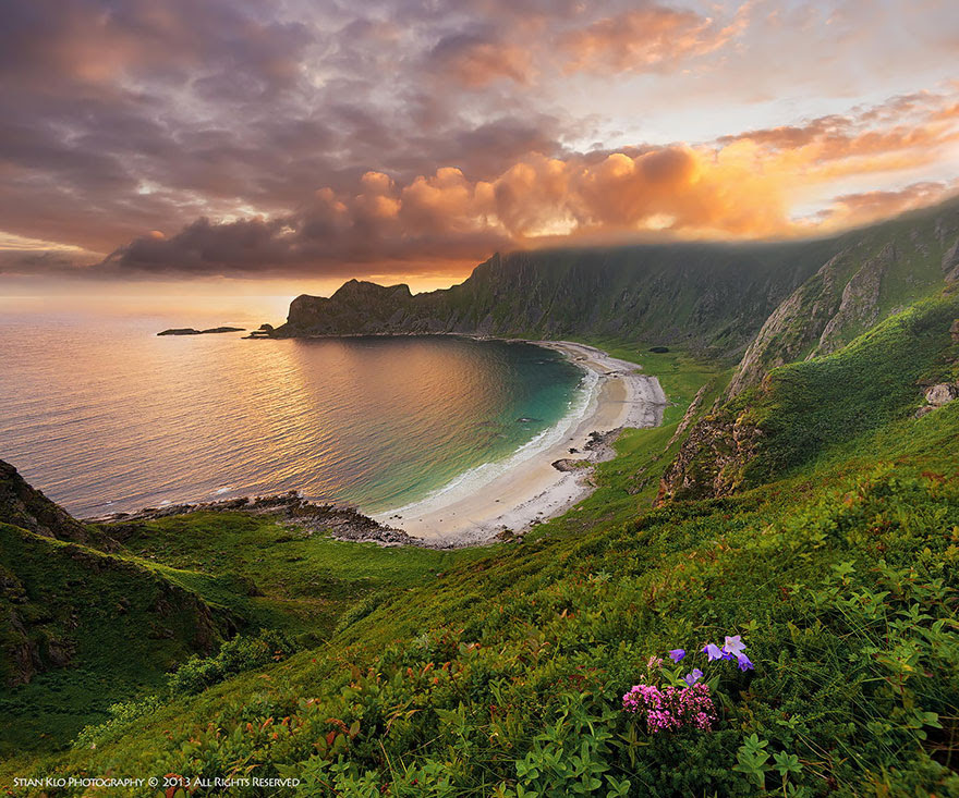 Høyvika Beach On Andøya, Vesterlen In Northern Norway
